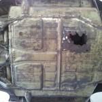 dessous de caisse de Porche nettoyé par DLM Cryo